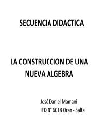 tapa construccion nueva algebra